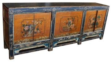 Vintage Asian Reproduction Cabinet - Asian - Buffets And Sideboards - Mortise & Tenon Custom Furniture Store