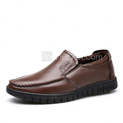 Men's Loafers & Slip-Ons Spring Fall Winter Other Leather Outdoor Office & Career Casual Flat Heel Others Black Brown Other 2017 - $24.99