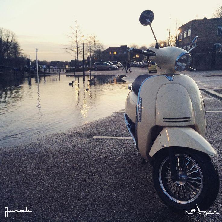 Junak Vintage Scooter in Twickenham retro skuter www.hoozar.co.uk
