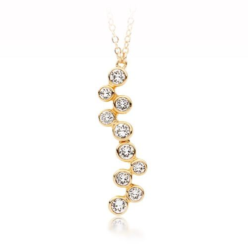 Fidelity Necklace with Swarovski® Crystals Gold Plated