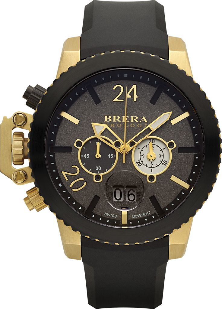 Brera Orologi Militare Rose Gold and Navy Blue Ionic-Plated Stainless Steel  Watch with Navy Blue Rubber Strap,