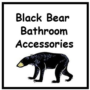 Best Black Bear Bathroom Accessories Sets #lyblkbearbath