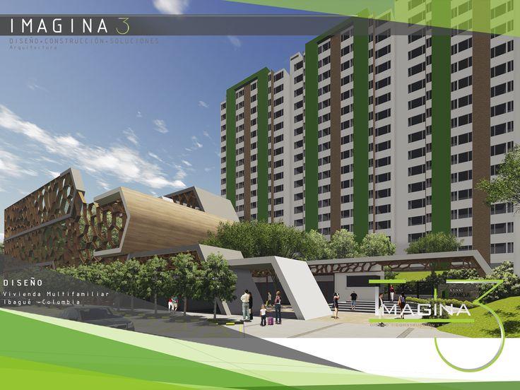 Proyecto vivienda mulrifamiliar/ Diseño arquitectónico. #Imagina3 gerencia@imagina3.co / + 57 321 324 7617 / +57 (8) 2 76 21 23 / https://www.facebook.com/imagina3.arquitecturayconstruccion