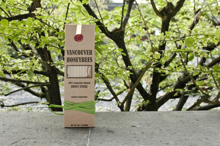 Vancouver Honeybees Honey Sticks Peppermint / $9.99