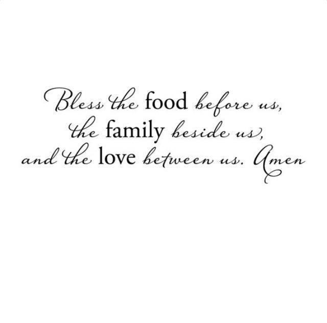 ❤ prayer before meals --simple & beautiful