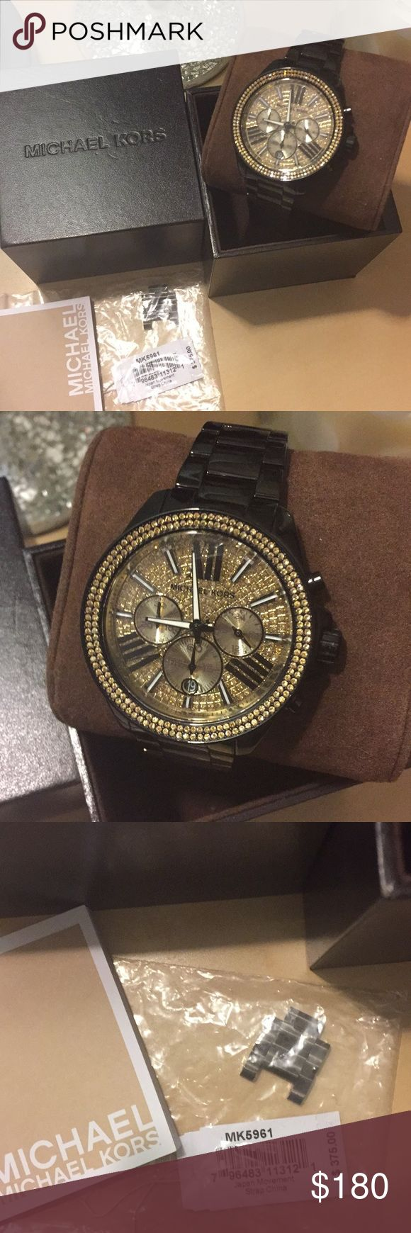 Michael Kors Wren Chronograph Glitz Watch Michael Kors • Wren, Glitz Chronograph Watch • Comes with original box and Booklet and Price tag • Need battery replaced Michael Kors Accessories Watches