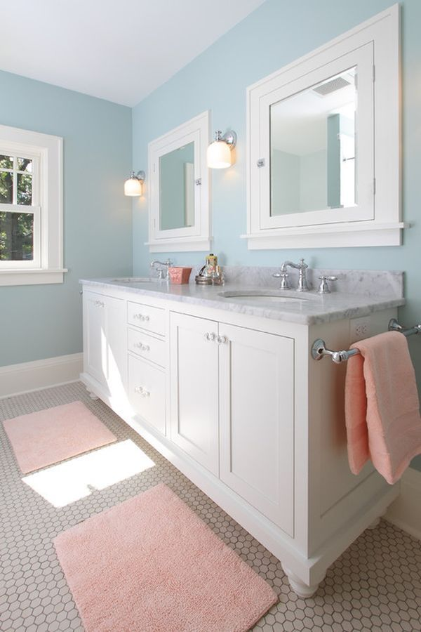 Best Peach Bathroom Ideas On Pinterest Peach Paint - Large bathroom floor mats for bathroom decorating ideas