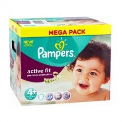 Maxi Pack 250 Couches de Pampers Active Fit taille 4+ sur Les Looloos