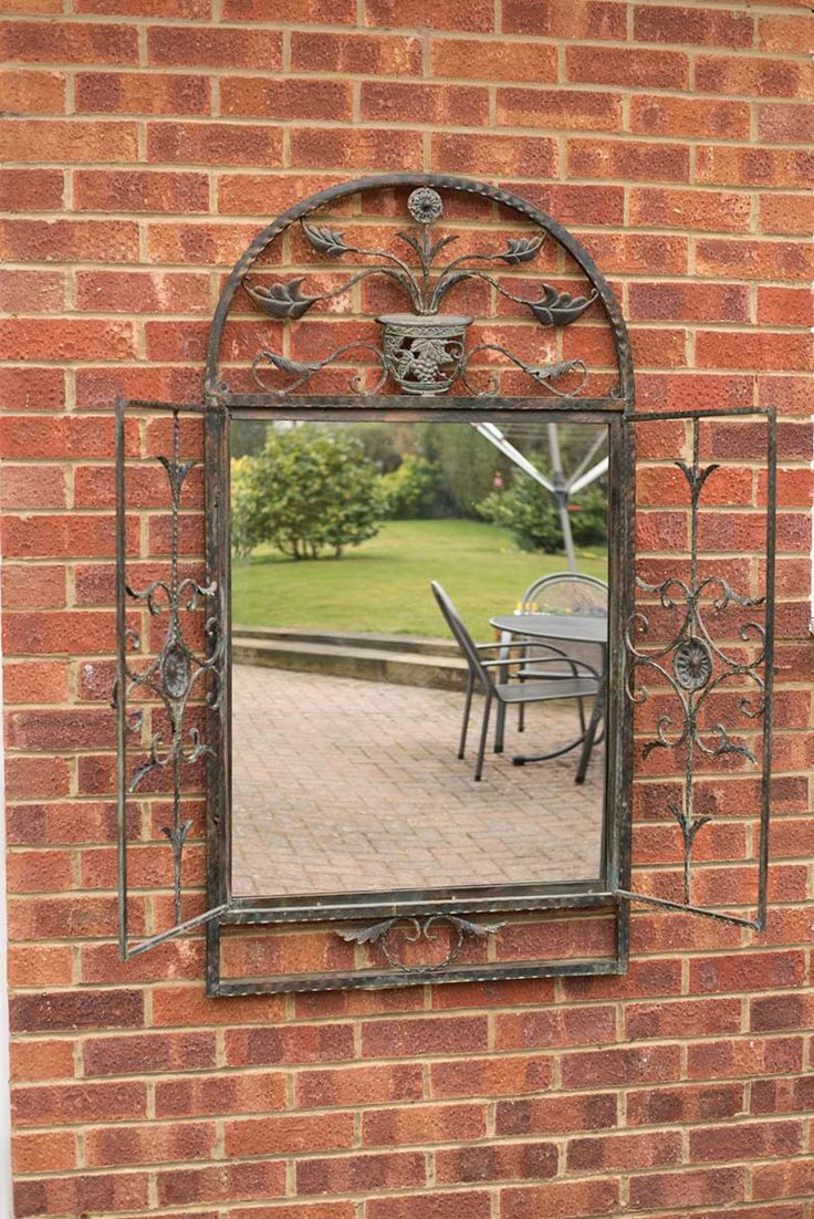 26 best garden mirrors images on pinterest free delivery arches this rustic garden mirror bring with it doors that open and close and is also frost amipublicfo Gallery