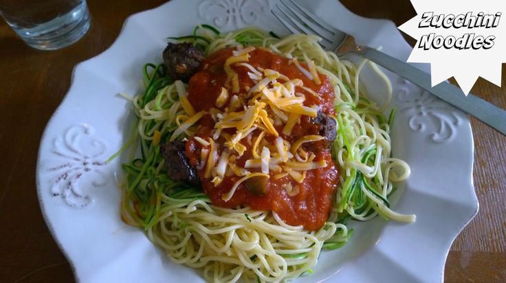 Zucchini noodles are easy to make and a very good for you.  A fantastic way to enjoy speghetti without all the extra pasta!