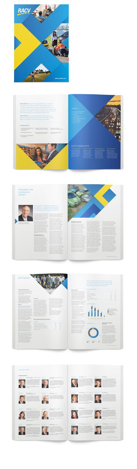 annual report  - negative shapes, flags