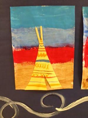 Native American Indian Art #nativeamericans #homeschool #educaiton #preschool #craftforkids #indians