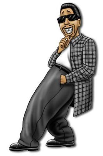 """Cruzer - <BR>Cruzer es Homie superchulo(superfresco) que se considera para ser Dios ` el regalo de s al mundo Lowrider. El Homies piensa que él es chulo(fresco), y don ` el viaje de t sobre su personalidad arrogante y engreída. Cruzer conduce una calidad de espectáculo de Fleetmaster 1948 convertible, que saben ser los más malos en todo el Aztlan (Hacia el sudoeste). Cruzer tiene todos, """" Mejor de Espectáculo """" trofeos para demostrarlo. Cruzer tiene el paseo más liso en el Barrio él se…"""