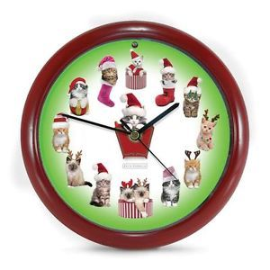 christmas+cat+clock | CLOCKS-WITH-SOUNDS-Wall-Clock-Cat-Kitten-Christmas-XKIT8-CHRISTMAS ...