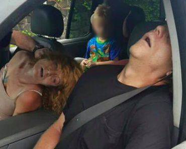 Ohio Police Post Photo of Heroin Addicts Passed Out With 4-Year-Old in Back Seat…