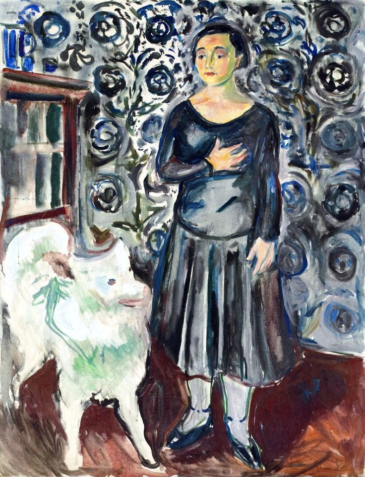 Edvard Munch (1863-1944) : Woman with Samoyed, 1929-1930. © Private collection.