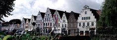 Die malerischen Treppengiebelhäuser in Friedrichstadt, © www.nordseetourismus.de/ Anke Stecker/ Tourismusv. Friedrichstadt e.V.