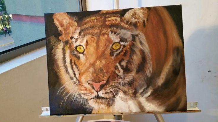 cuadro Mi Tigre pintura al oleo