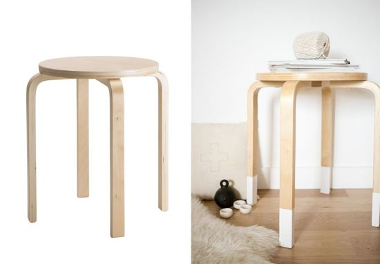 Customiser le tabouret frosta d 39 ikea lieux blog et design - Customiser un tabouret ...