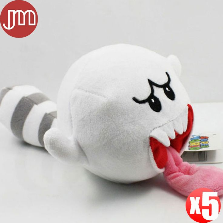 "Find More Movies & TV Information about 5 PCS New Super Mario Bro White Boo Mushroom Ghost with Tail Soft Plush Doll Stuffed Toy Gift Tongue Cart Approx 10cm/4"",High Quality mushroom anchor,China ghost whisperer Suppliers, Cheap mushroom pipes from M&J Toys Global Trading Co.,Ltd on Aliexpress.com"