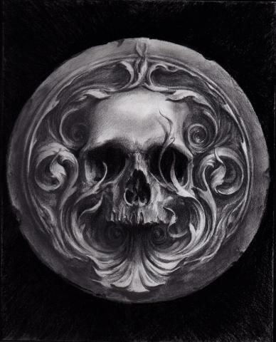 Artwork by Carlos Torres #illustration #skull #dark
