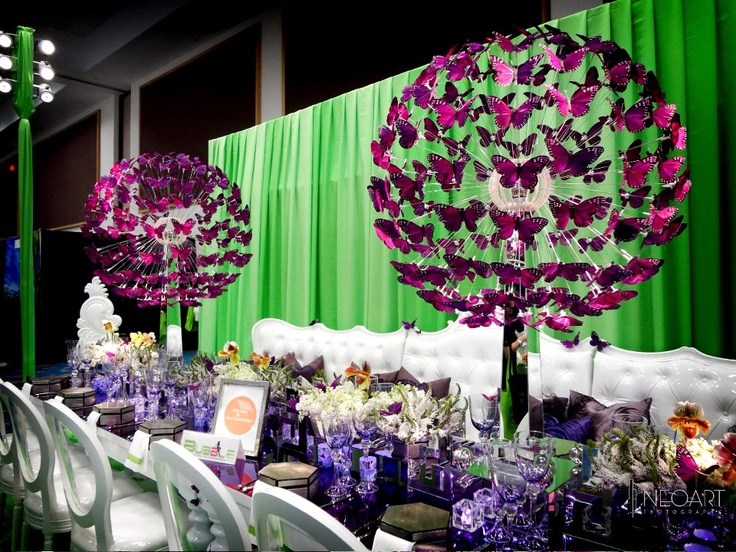 Butterfly Wedding Reception Table Centerpieces By Jose