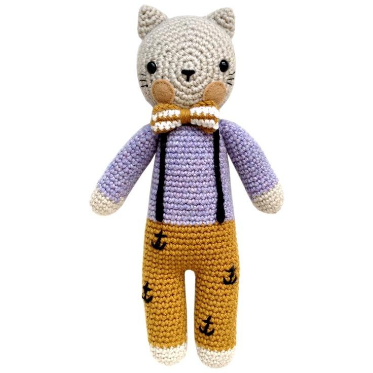 Asombroso Hola Gatito Crochet Patrón Afghan Regalo - Manta de Tejer ...