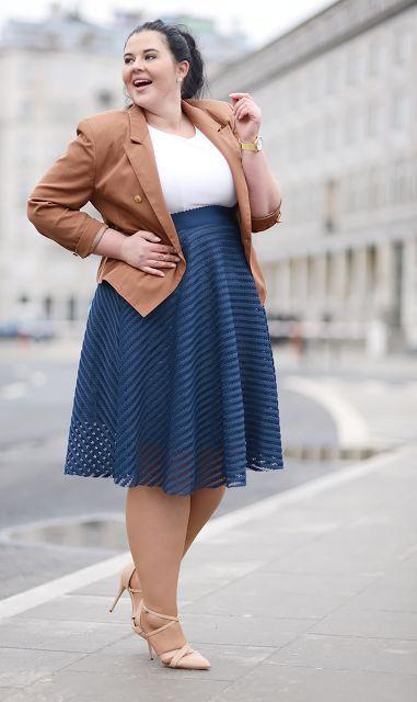 Plus Size Fashion - Plus Size Work Outfit | ewokracja