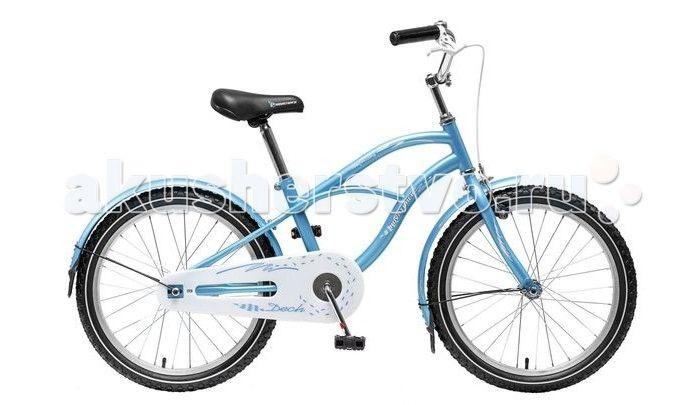 """Велосипед двухколесный Novatrack Cruiser 20""""  Велосипед двухколесный Novatrack Cruiser 20"""" - надежный городской велосипед для детей от 5 лет. Модель выполнена в оригинальном дизайне и одинаково подойдет как мальчикам, так и девочкам. Велосипед предназначен для прогулок по паркам, улицам, а также для катания по пересеченной местности.  Особенности: сиденье и руль регулируются по высоте широкие надувные колеса удобные нескользящие ручки ручной тормоз звонок на руле светоотражатели Диаметр…"""
