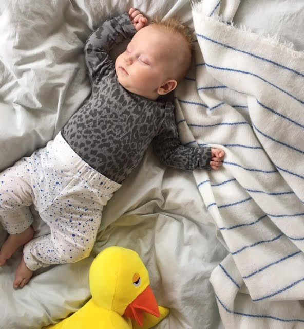Baby clothes leopard splash
