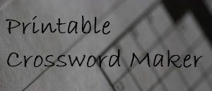 Crossword Maker