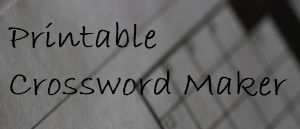 Free crossword puzzle maker