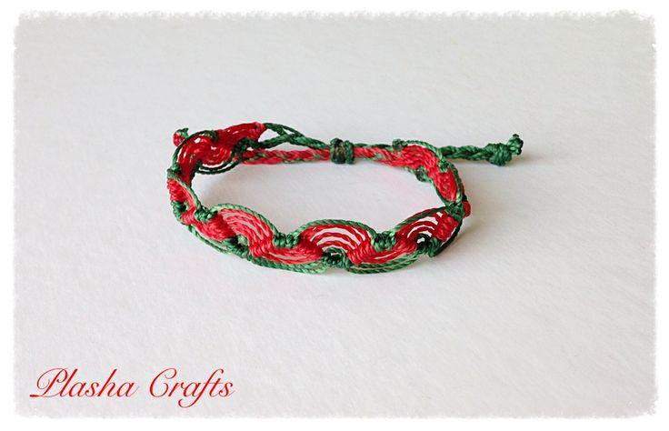 Bracelet LA OLA Brazalete Macrame by Plasha Crafts