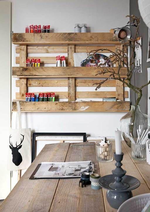 Pallet as storage cabinet #DIY #pallet