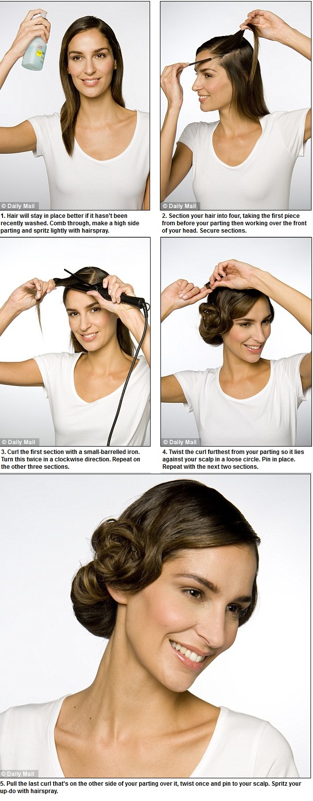 Got Downton Abbey hair envy? Here's how to get a retro up-do in less than TEN minutes!