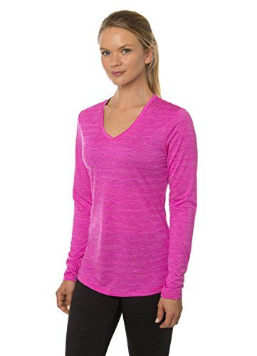 RBX Active Womens Multi Color Space Dye LS Lightweight VNeck Running Tee Shirt *** Click on the image for additional details.Note:It is affiliate link to Amazon.