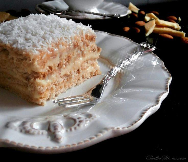 """Słodka Strona: Kokosowe Ciasto """"Rafaello"""" Bez Pieczenia"""