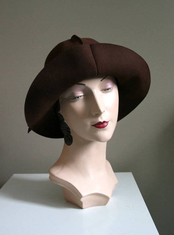 Rare roll up 1920s/30s fur felt Knox Hat