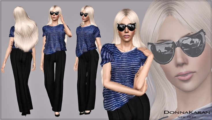 L A D Y ♔ G A G A - Spotted In Style | Donna Karan Casual Look    Gaga appears to be taking preparations for her big day up a notch since she was spotted searching for the perfect wedding location in Malibu back in March. The usually outlandish dresser pared back her style for the day but still hit the trend spot in her Trousers and loose-fitting Breton stripe Shirt. The black cropped wide-leg Trousers are from