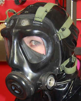 S6 small Masked girls Gas mask girl Mask girl Latex