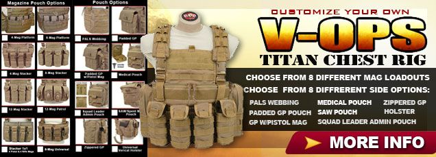 BDS Tactical Gear. Build Your Own Chest Rig