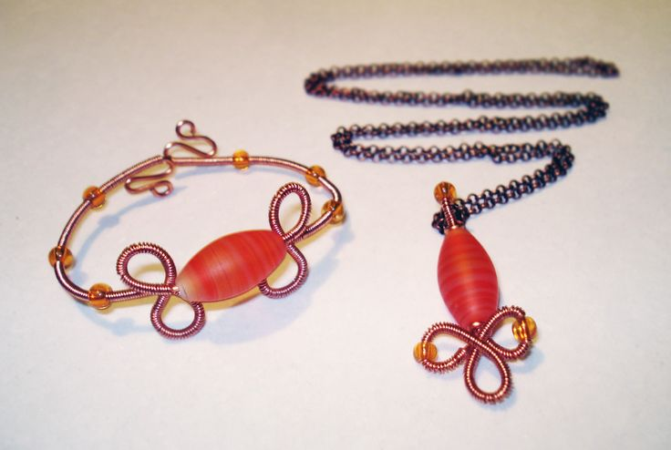 Copper Wire and Glass Set by IALINA