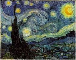 Van Gogh, Νύχτα με άστρα και κυπαρίσσια