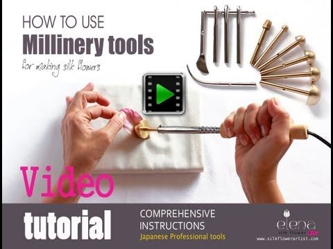 Millinery tools to make couture silk flowers