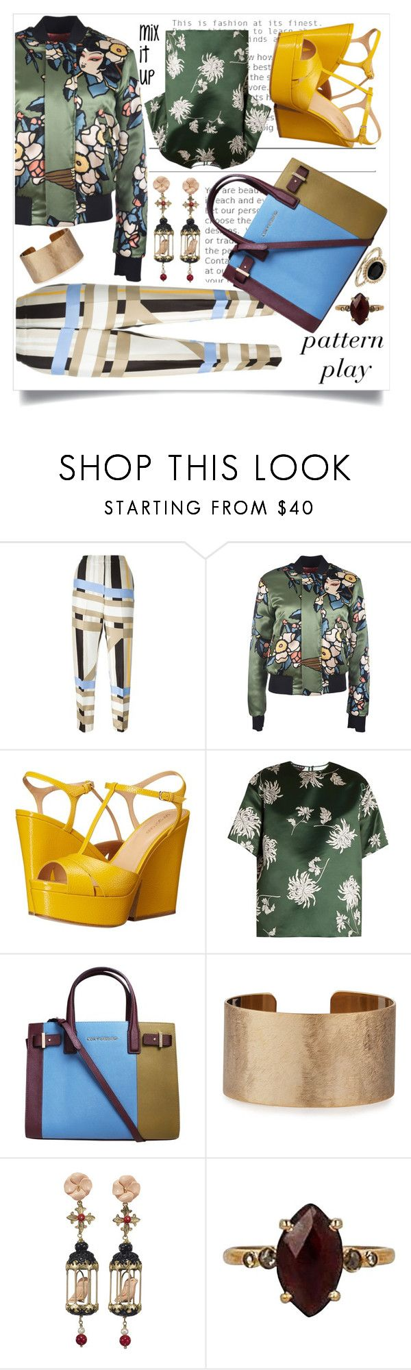 """Funk you right on up!"" by ladybug71181 ❤ liked on Polyvore featuring MSGM, Dsquared2, Sergio Rossi, Rochas, Kurt Geiger, Panacea, Of Rare Origin, Chan Luu and Blue Nile"