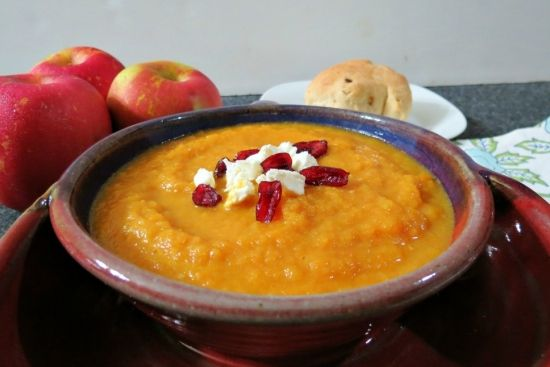 Roasted Carrot, Fennel and Apple Soup