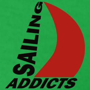 Tshirt black logo Sailing Addicts TMb