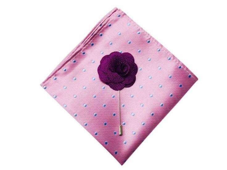 Mens Silk Pocket Square - lilac morning by VIDA VIDA t1LhgI6qSL