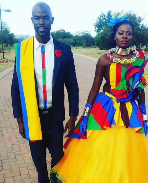 Ndebele Wedding attire design