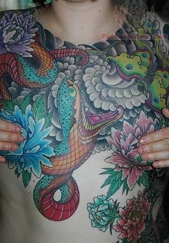 Snake Tattoo On Front